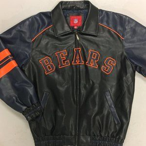 AUTHENTIC Chicago Bears Faux Leather Zip-Up Jacket